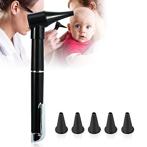 Mini Diagnose Otoskop, Tragbares HD Endoskop, Taschenlampe mit Vergrößerungslinse für die Ohrenpflege, Ohrenpflege Lupen Taschenlampe, Taschenformat Otoskop Penlight