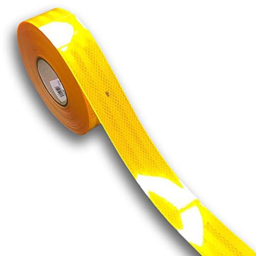 easydruck24de 3M Diamond Grade 983 reflektierende Konturmarkierung I 1 m Konturband in gelb I Reflektorband selbstklebend für Anhänger LKW Festaufbauten I AZ_004