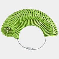 DFSM リングサイズマンドレルスティックフィンガーゲージリングサイザー測定ジュエリーツール (色 : 緑)
