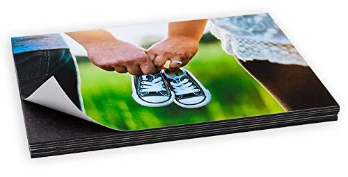Foto Magnet 10er Set in verschiedenen Größen | Kühlschrankmagnet | Magnetfoto | Magnetpinwand | Magnetische Bilderrahmen, Fotocollage | Klebemagnet, Fotopapier(Normalbild (10 x 15 cm))