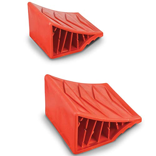 2er Set Unterlegkeil aus robustem Kunststoff Plastik ideal für Reisemobile Wohnmobil Keil Standkeil Ausgleichskeil Wohnwagen Anhänger Bremskeil PKW Hänger Pferdeanhänger, stabile Ausführung ca 700g