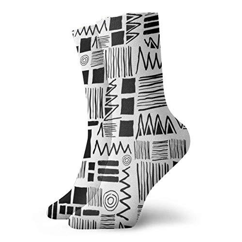 Molelanki Abstrakte geometrische Figur Socken Crew für Männer Frauen Kinder Trekking Performance Outdoor 30 cm / 11.8 Zoll