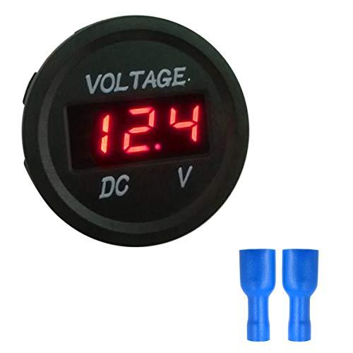 Heaviesk Misuratore di voltaggio Digitale 5-48V Display a LED Voltmetro a Pannello Digitale Voltmetro Elettrico Volt Tester per Auto Batteria Car Moto Nave Impermeabile