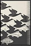 Kying Dan Aku-Maurits Cornelis C.Escher Lienzo Pintura Carteles HD impresión Arte de Pared Impresiones Sala de Estar decoración del hogar -50x75 CM sin Marco
