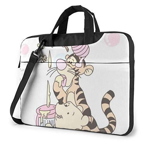 The Pooh Laptop Shoulder Bag,Shockproof Slim Computer Carry Case 13'/14'/15.6'
