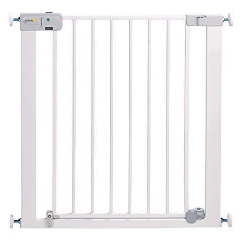 bébé nourisson sécurité monte-escalier mural métal porte Simply Close réglable Extension - Blanc, Safety 1st Auto Close Metal Gate