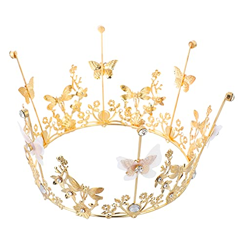 Tomaibaby Mini Couronne Gâteau Topper Strass Reine Princesse Tiara Couronne pour Fête D' anniversaire De Mariage Gâteau Fournitures