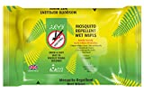 Theye Toallitas húmedas naturales repelentes de mosquitos, DEET libre de alcohol, 100% natural 12 unidades 76 gr
