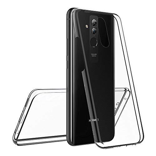 AICEK Compatible Huawei Mate 20 Lite Hülle, 360°Full Body Transparent Silikon Schutzhülle für Huawei Mate 20 Lite Case Durchsichtige TPU Bumper Huawei Mate 20 Lite Handyhülle (6,3 Zoll) - 4
