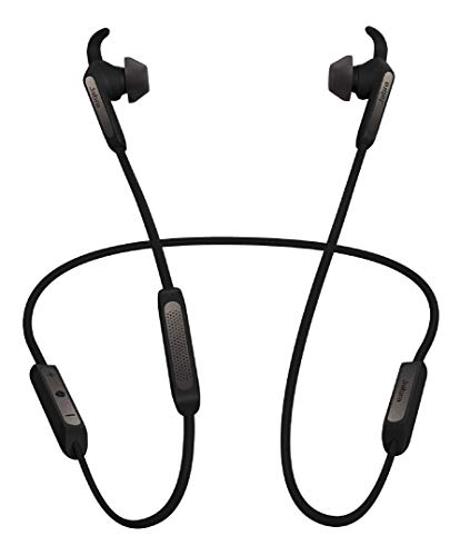 Jabra Elite 45e Wireless Earbuds, Titanium Black – Alexa Built-In, Wireless Bluetooth Earbuds, Around-the-Neck Style with a Secure Fit and Superior Sound for Music and Calls, Long Battery Life