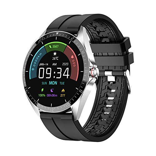 ZGNB The New GW16T 1.3'SmartWatch Men Touch Full Touch Sport Rate Sleep Monitor Smart Watch se actualiza a la versión Global (para iOS Android),D