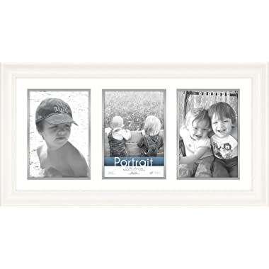 Timeless Frames 10x20 Inch Fits Three 5x7 Inch Photos Lauren Collage Frame, White