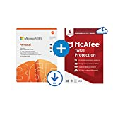 Microsoft 365 Personnel | Office 365 apps | PC/Mac/Tablet and Phone | 12+3 Mois + McAfee 2021 Total...