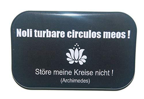 Magnet Kühlschrankmagnet Rechteckig eckig groß ca. 7 x 4,5 cm gute Haftung Motiv: Spruch Latein lateinisch Redewendung Zitat Geschenk Noll turbare