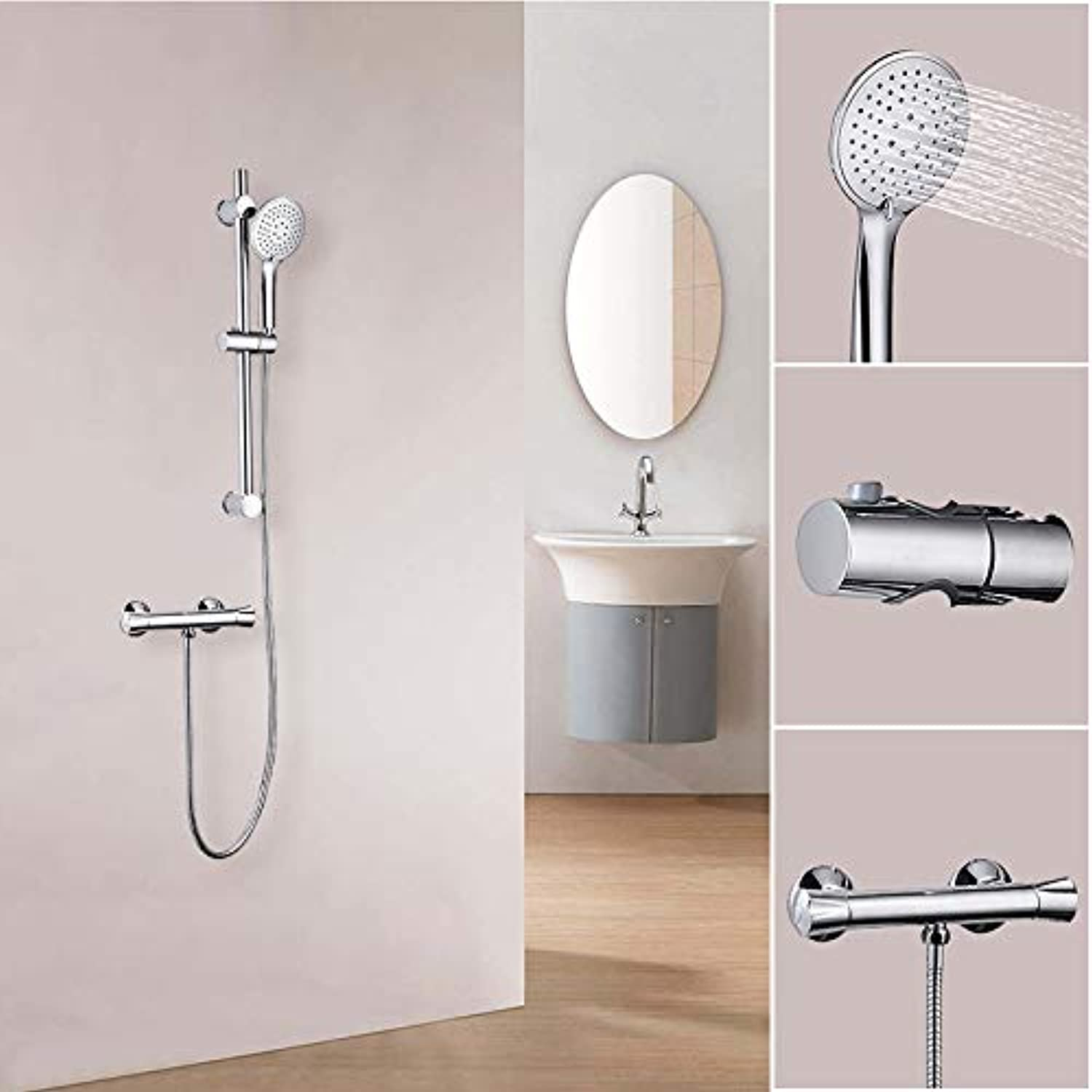 Aica Sanitary Shower Fittings Bathtub & Shower Systems, Duschthermostat+Handbrause