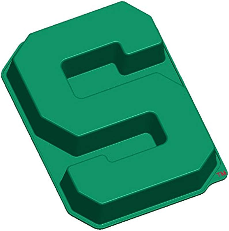 MasterPieces NCAA Michigan State Spartans S Cake Pan With Stand Green