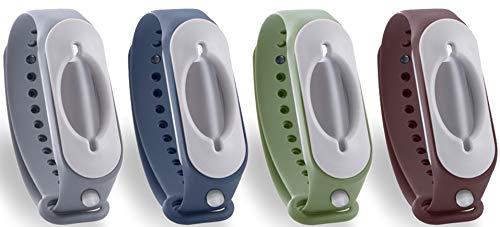 4'er Set 2.0 Desinfektionsarmband - Familienpaket für unterwegs - steril - 4x Hygienearmband für saubere Hände unterwegs für die ganze Familie (Set - 4 Farben)