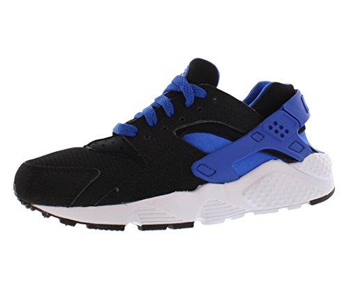 Nike Huarache Run (Gs), Scarpe da Corsa Bambino, Multicolore (Black/Lyon Blue-White-White), 38 1/2