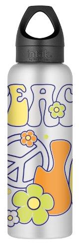 Thermos Intak Kids Botella de hidratación que cambia de color para niños, paz