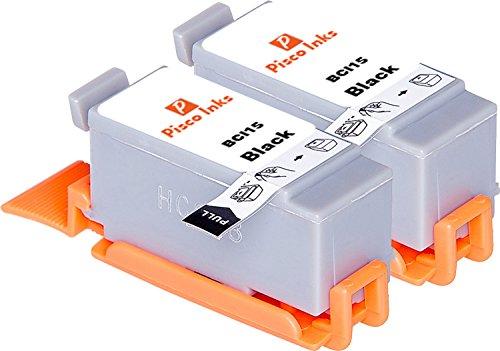 2er Set schwarz Pisco Inks BCI-15 BCI-16 Druckerpatronen für Canon Pixma iP90 Pixma iP90V
