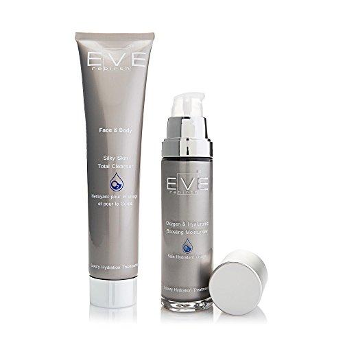 EVE REBIRTH Kit : Soin Hydratant Visage Oxygène, 50 ml + Nettoyant pour Visage/Corps Oxygène, 200 ml