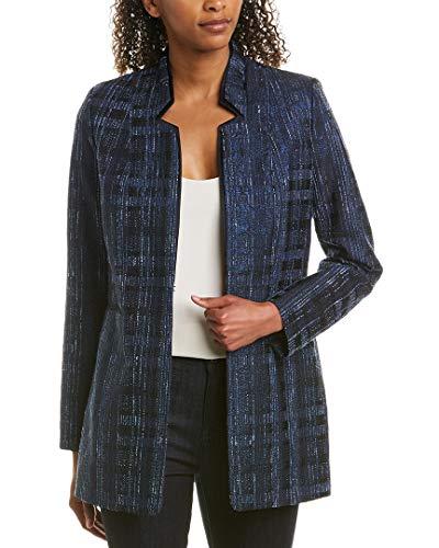 Elie Tahari Womens Macklaine Metallic Suit Separate Blazer Navy 8