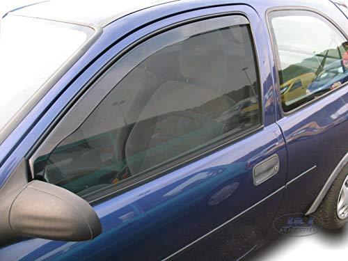 J&J - Deflectores de viento para Opel Corsa B 3 puertas 1993-2001 (2 unidades)