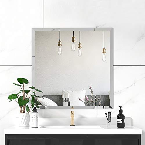 Square Beveled Frameless Bathroom Wall Mirror*