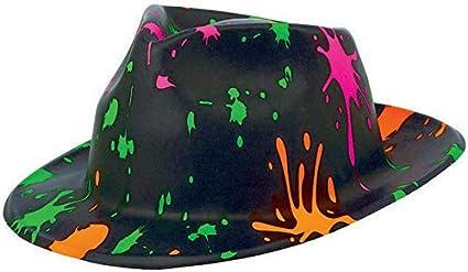 Totally 80s Plastic Paint Splatter Fedora Hat