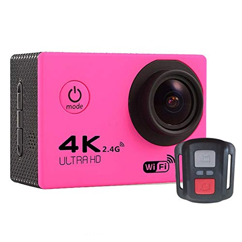 ZMKK Other Camera F60R 2.0 inch Screen 4K 170 Degrees Wide Angle WiFi Sport Action Camera Camcorder with Waterproof Housing Case & Remote Controller, Support 64GB Micro SD Card(Black)
