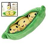 Aisoway PEA Stuffed Pflanze Puppe Kawaii für Kinder Jungen Mädchen Geschenk PEA Shaped Kissen Toy Nette Kinder-Baby-Plüsch-Spielzeug (Grün 40cm)