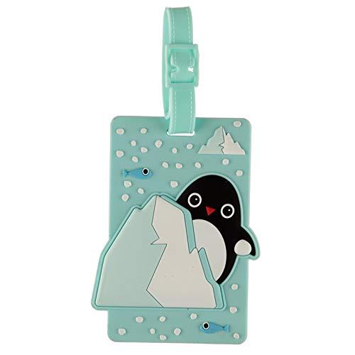 St@llion Fun Novelty Design PVC Huddle Luggage Tag Penguin Cute Kids Holiday Suitcase Labels (Pack of 1)