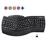 Perixx PERIBOARD-612 Wireless 2.4G/Bluetooth Ergonomic Split Keyboard, for Windows 10 and Mac OS