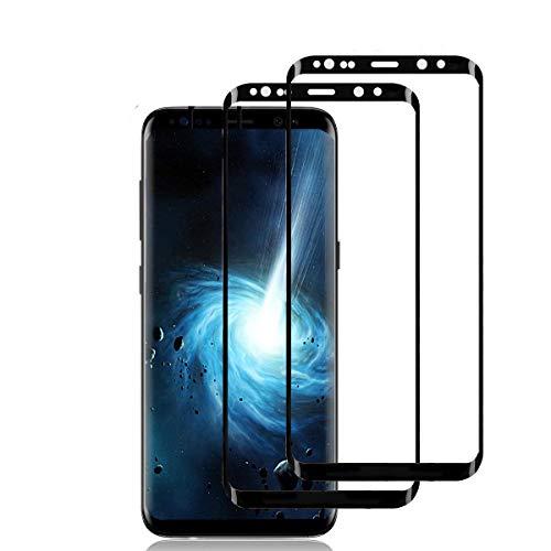 Panzerglas für Samsung Galaxy S9 (2 Stück),3D Vollständigen Abdeckung,9H Härtegrad,Anti-Kratzen,Anti-Bläschen,Hülle Freundllich,Perfekt Schutzfolie für Galaxy S9
