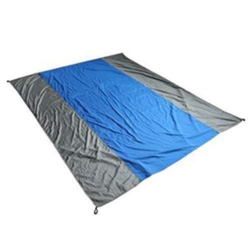 Strandzelt Colorblock Lightweight Compact Blanket Sand Proof wasserdichte Strand-Picknickmatte für draußen Große, überlappende Bodenmatte 240 x 145 cm Camping Zelt