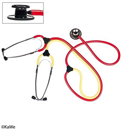 Schwestern-Lehr-Stethoskop Plano rot-gelb