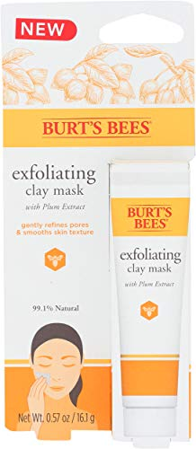 Burts Bees, Mask Clay Single Use Exfoliating, 0.57 Ounce