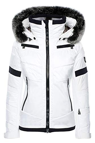Toni Sailer Damen Skijacke Luna Fur Bright White - XXL (44)