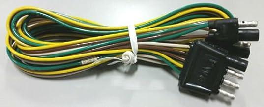 5 Prong Flat Connector 10 Foot Length Shorelander 5110347 Tongue Harness