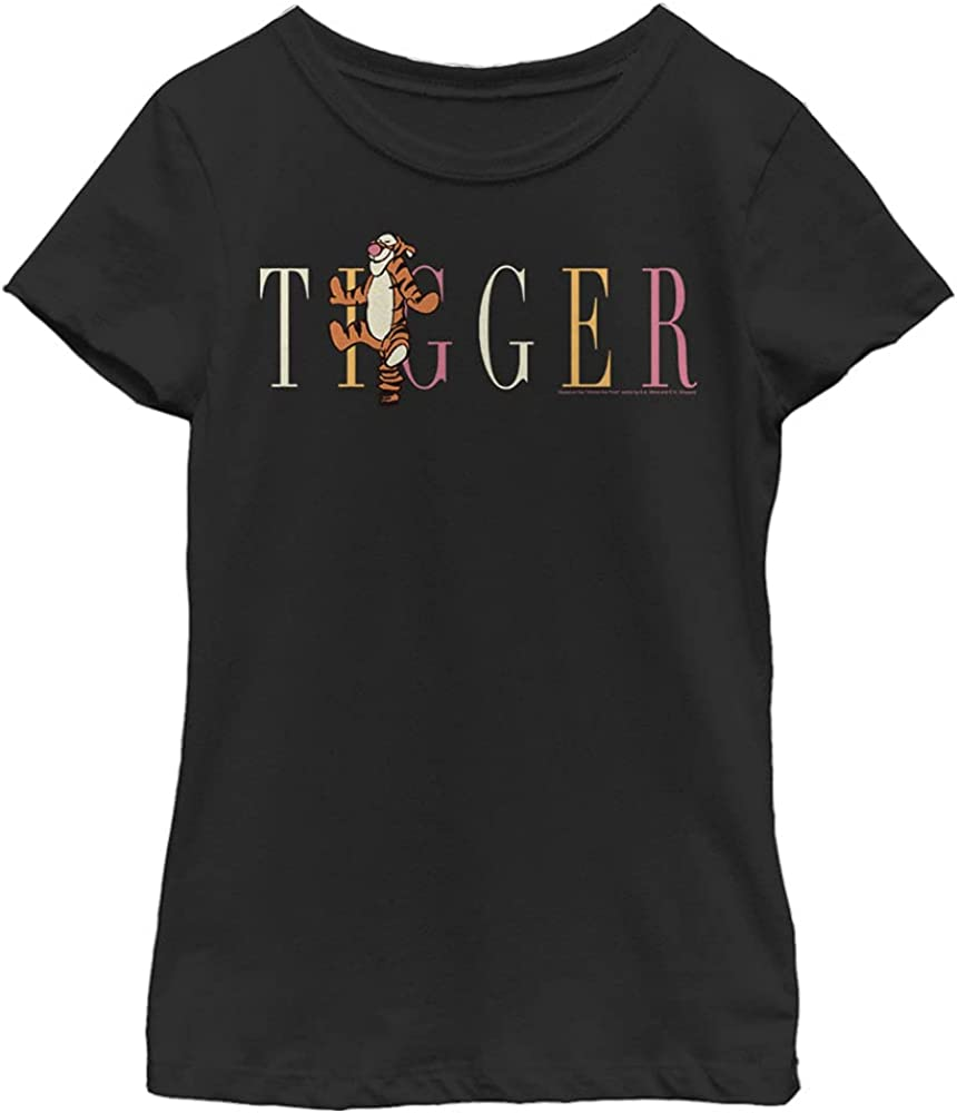 Disney Winnie The Pooh Tigger Fashion Girl's Solid Crew Tee