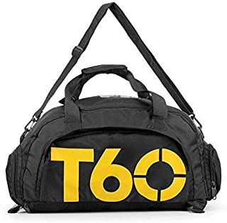 Sports Bags T60 Gym Bag Black and Yellow