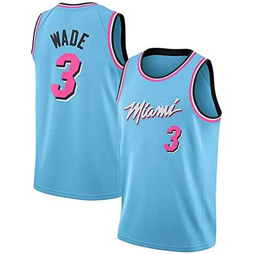BUFJ Heat No. 3 Wade - Camiseta de baloncesto para hombre y mujer, ropa de entrenamiento transpirable, ropa deportiva casual S A