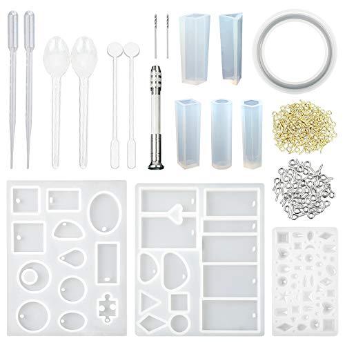 CCMART Moldes de resina y conjunto de herramientas