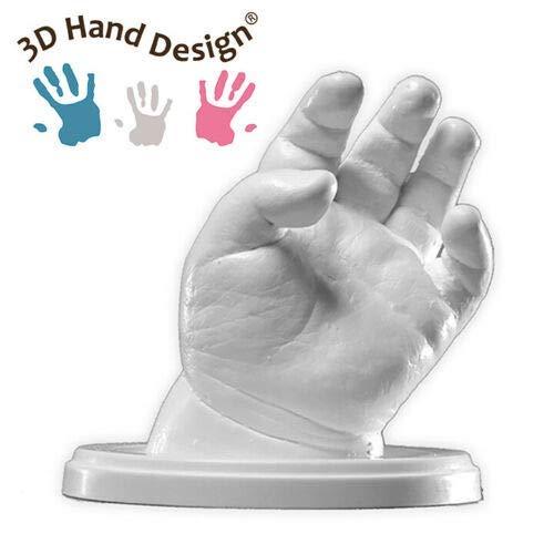 Lucky Hands® Kit per Impronte 3D | per stampi di mani | Idea regalo Festa della mamma (0-6 mesi | senza accessori, 2-3 stampi)