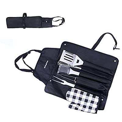 KingCamp BBQ Grilling Accessories Grill Tools Set, 12PCS Stainless Steel Grilling Kit for Outdoor Cooking Camping Grilling Smoking, Kitchen, Barbecue Utensil for Men Women