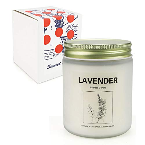 Lavender Candles for Women, Scented Candles Made with Soy Wax, 10 Ounce, 50 Hours Work Time, Long Lasting Scented Lavender