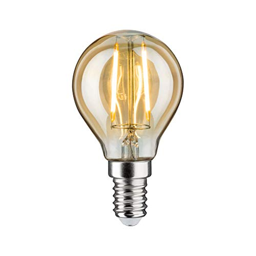 Paulmann 285.00 LED Tropfen 4,5W E14 230V Gold Warmweiß dimmbar 28500 Leuchtmittel Lampe
