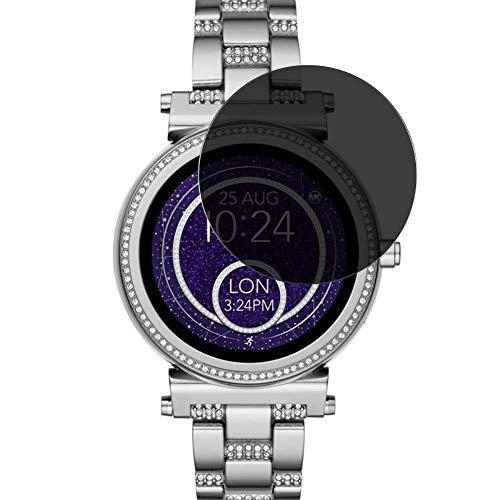 Vaxson Anti Spy Schutzfolie, kompatibel mit Michael Kors Access Sofie 2 42mm Smartwatch Hybrid Watch, Displayschutzfolie Bildschirmschutz Privatsphäre Schützen [nicht Panzerglas]