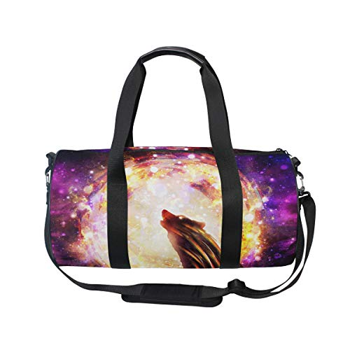 MNSRUU Reisetasche mit Wolf-Tier-Motiv, groß, Unisex, hohe Kapazität, großes Gepäck, Sporttasche