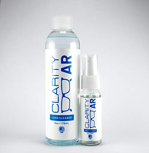 1oz Clarity AR Lens Cleaner Spray & 6oz Refill Bottle, Lens Cleaning Spray, Professional Grade, Specially designed for Anti-Reflective & Water Resistant Lenses